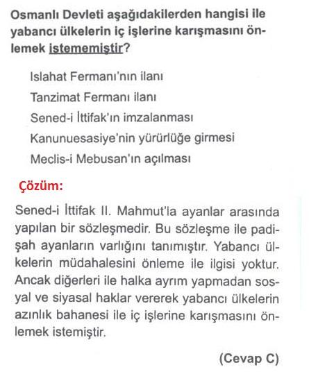 Osmanlıda yabancı ülkeler ile ilgili soru